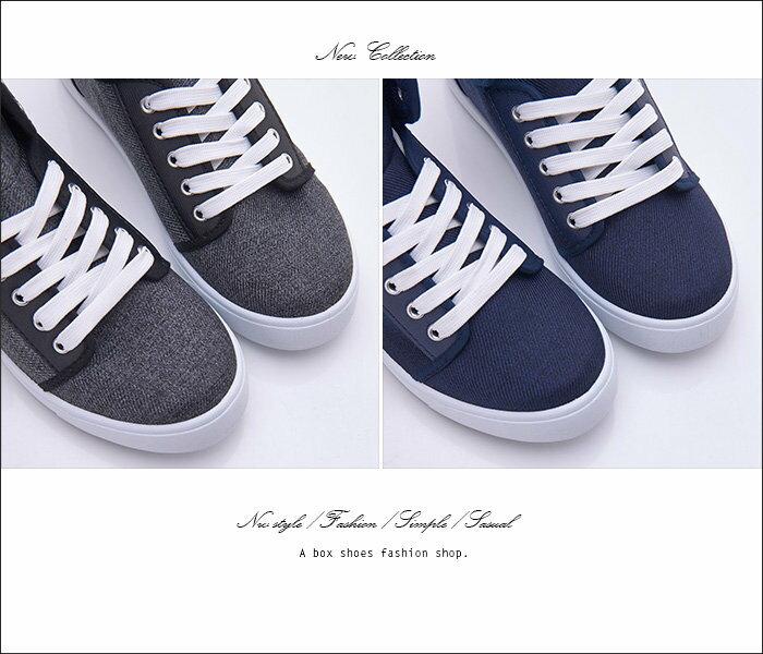 格子舖*【KBP-89】MIT台灣製 經典百搭女款高筒綁帶布面休閒鞋 滑板鞋 帆布鞋 2色 2