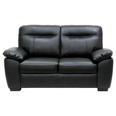 ◎(OUTLET)半皮2人用沙發 STONE BK 福利品 NITORI宜得利家居 1