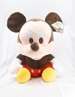 X射線【C160890】米奇Mickey16吋坐姿,絨毛填充玩偶玩具公仔抱枕靠枕娃娃