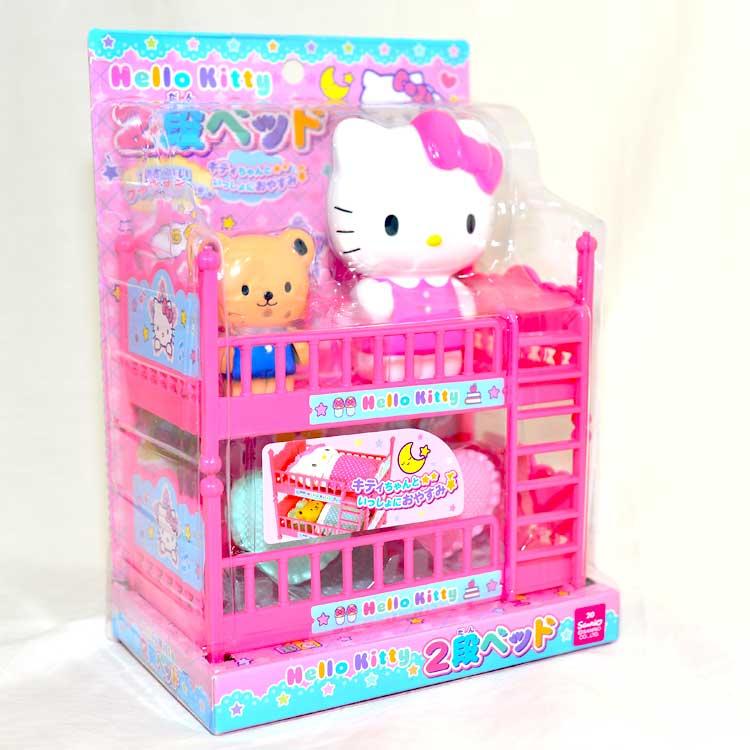 Hello Kitty 粉紅臥房的上下舖 家家酒玩具 日本帶回 正版