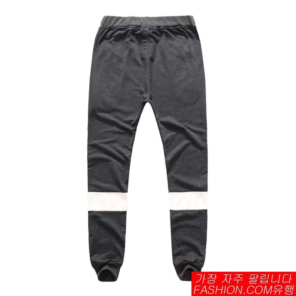 DITION 拉鍊背面反光皮革SPORT螺紋棉褲 3