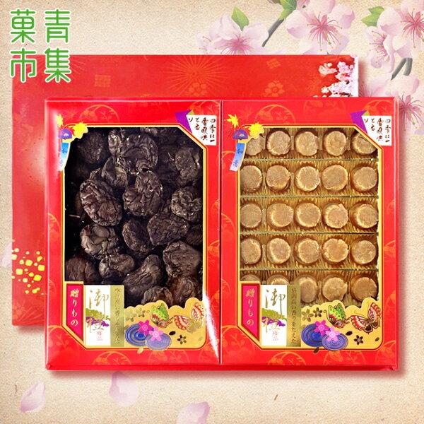 好事成雙禮盒(大)埔里大香菇&日本干貝附手提袋【菓青市集】