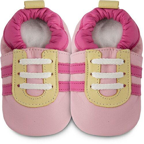 【HELLA 媽咪寶貝】英國 shooshoos 健康無毒真皮手工鞋/學步鞋/嬰兒鞋_粉紅佳人_102824 (公司貨)
