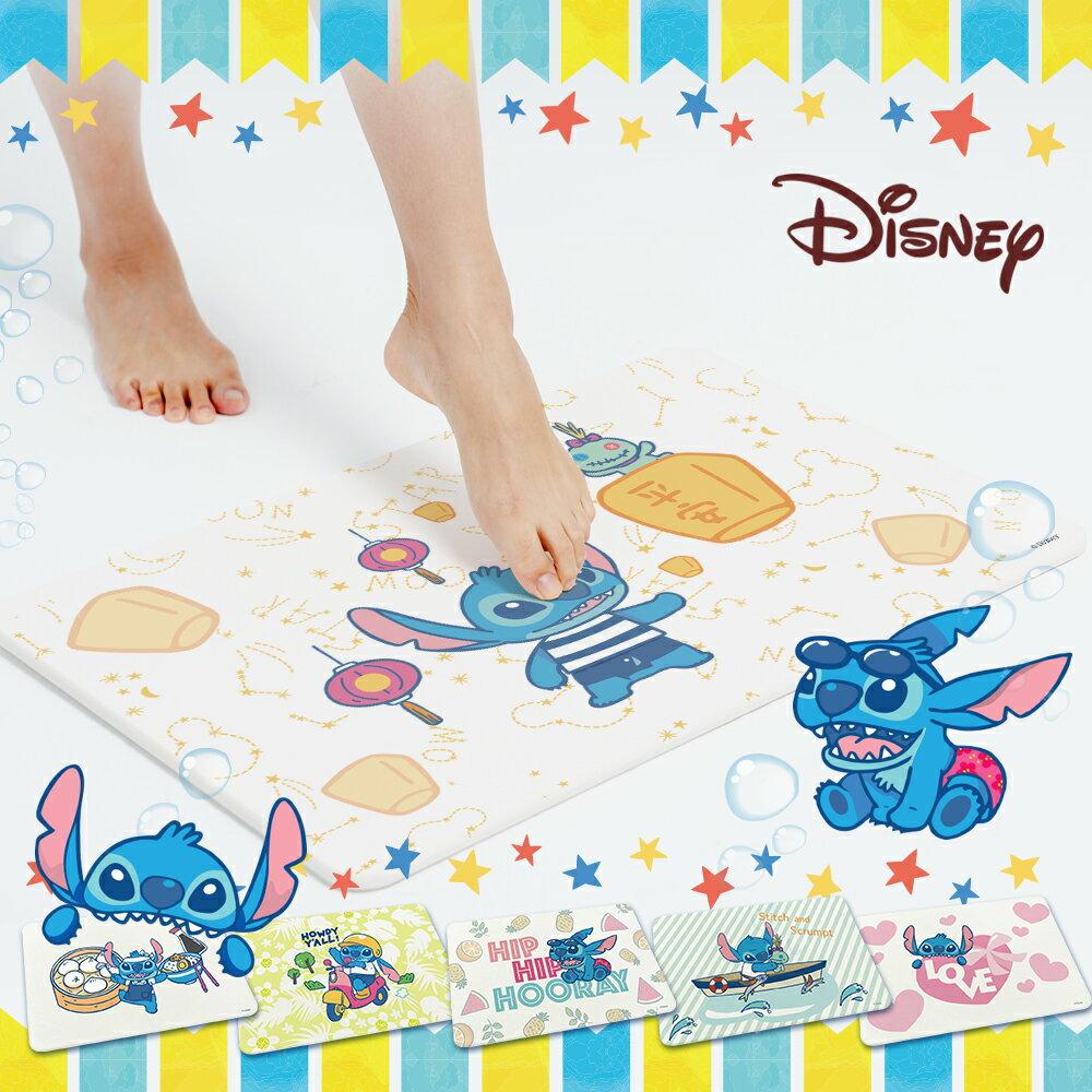 迪士尼Disney 史迪奇Stitch 彩繪款 珪藻土吸水地墊 11款任選 0