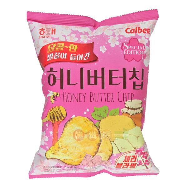 【韓購網】韓國海太蜂蜜奶油洋芋片60g(櫻花限定版)★Calbee濃郁蜂蜜奶油香添加櫻花粉★HAITAI