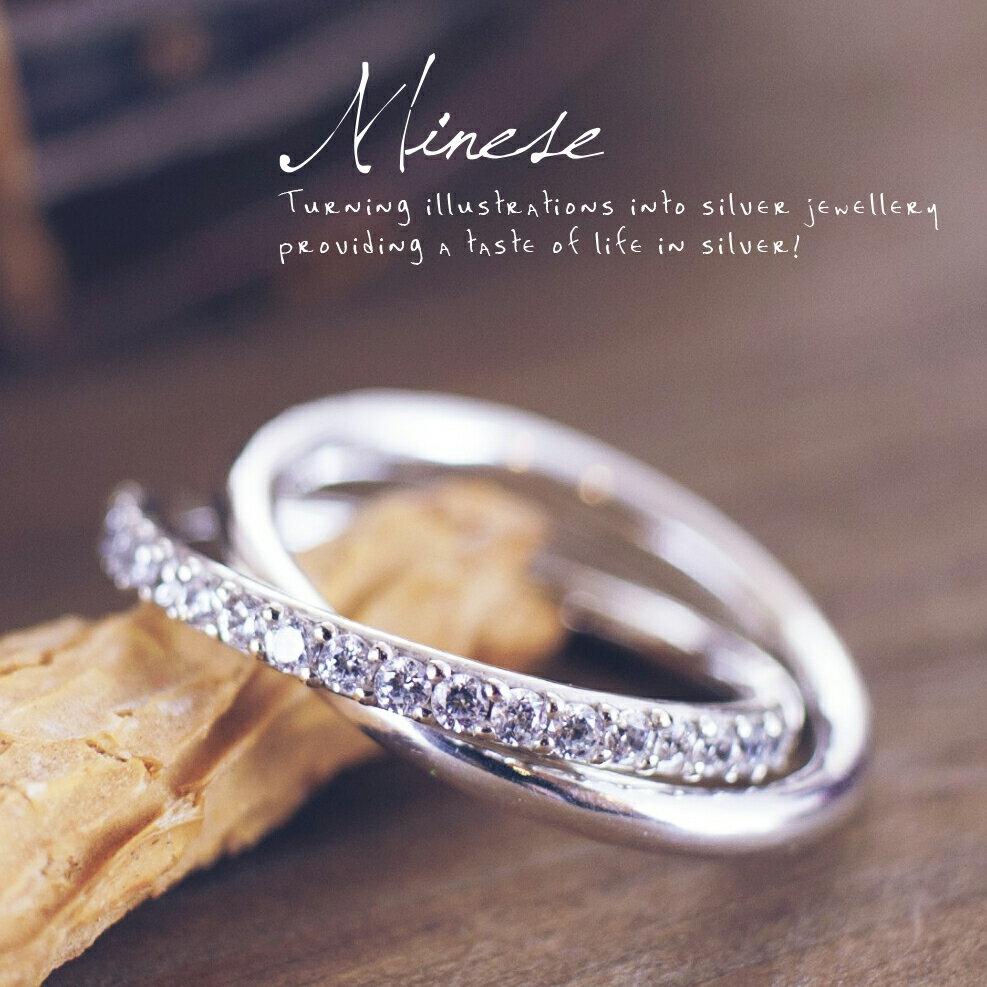 雙環鑲鑽戒 B-006, 925純銀、項鍊戒指手鍊飾品銀飾手作珠寶MIT設計師品牌~手工製作
