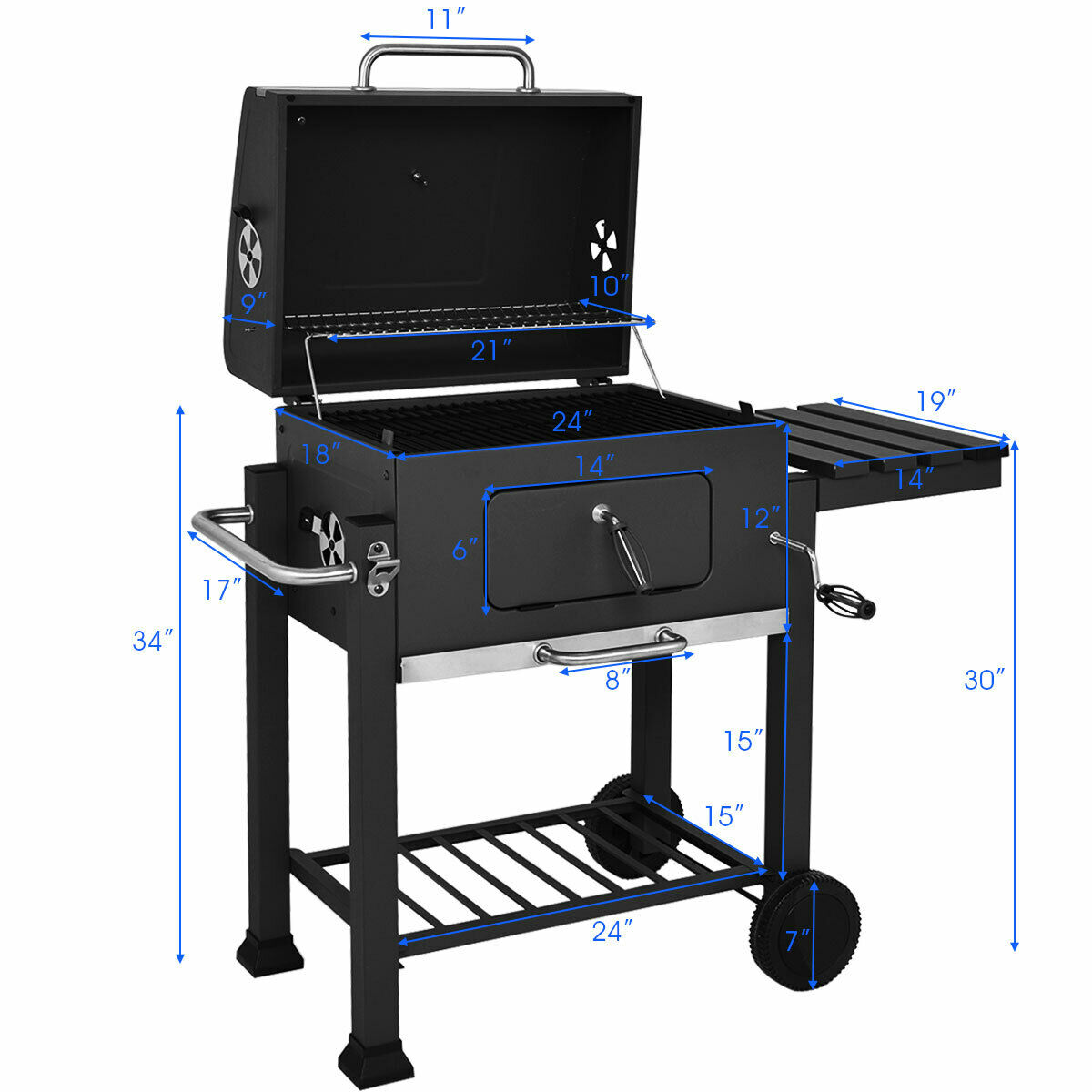 Costway: Costway Charcoal Grill Barbecue BBQ Grill Outdoor ...