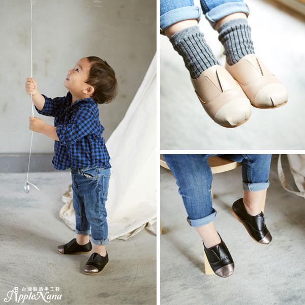 AppleNana。MIT手工童鞋。簡約時尚全真皮配色樂福鞋.男女都適合【QBC71421080】蘋果奈奈 3