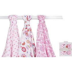 【hella 媽咪寶貝】美國 luvable friends  多用途嬰兒綿紗包巾3入禮盒組_甜蜜花語 (50945)