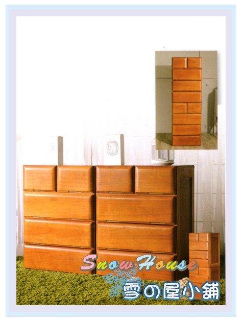 ╭☆雪之屋居家生活館☆╯AA566-02 原木宣言五抽實木收納櫃(兩件式)/置物櫃/床頭櫃/電話櫃/電視櫃/展示櫃/斗櫃