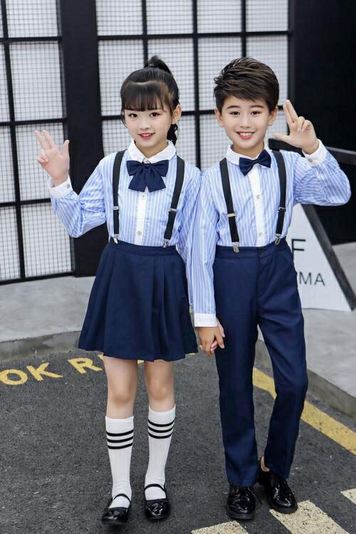 小禮服兒童演出服中小學生大合唱團男童主持人禮服詩歌朗誦套裝表演服女