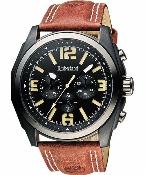 Timberland 天柏嵐 TBL.14366JSBU/02狂野雙日曆腕錶/黑面47mm