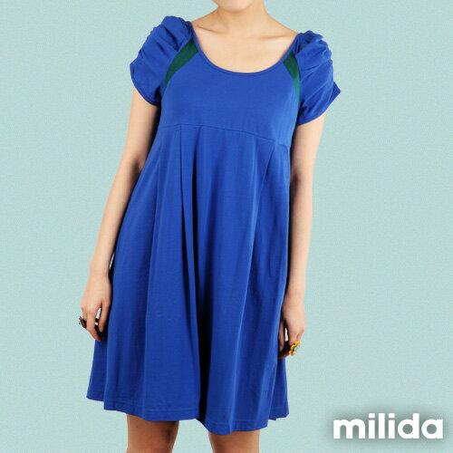 【Milida,全店七折免運】-早春商品-公主袖-舒適寬版洋裝 1