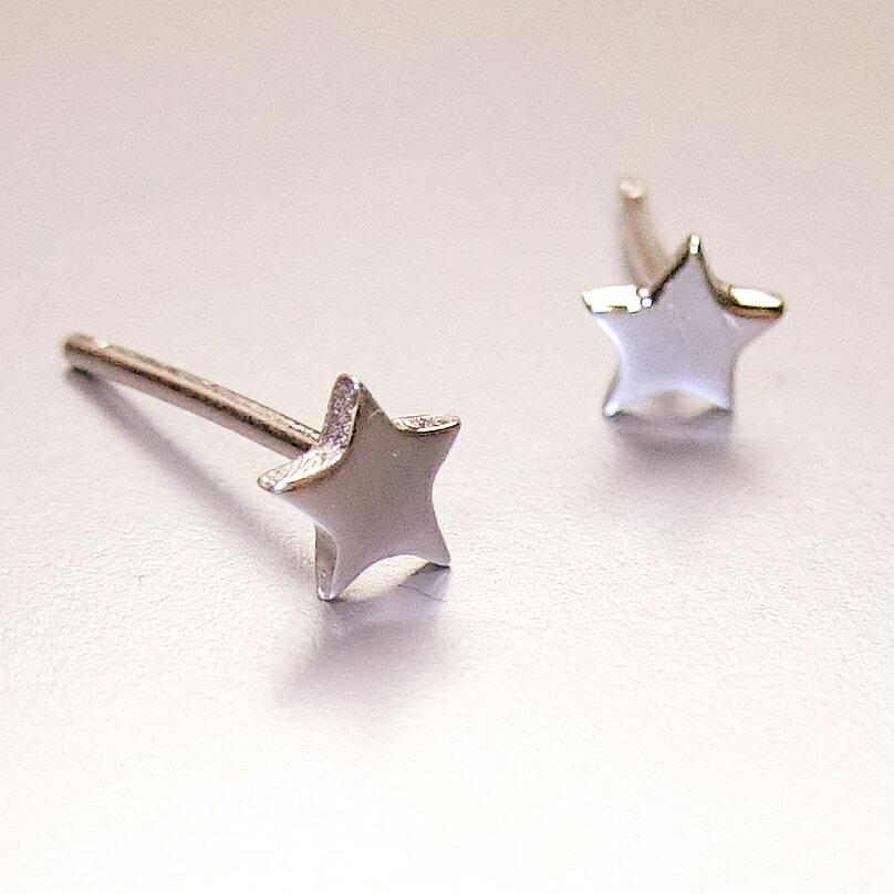 Tokyo Alice 925純銀鏤空鑽石造型耳環,飾品首飾耳飾貼耳針飾品(se0000029)
