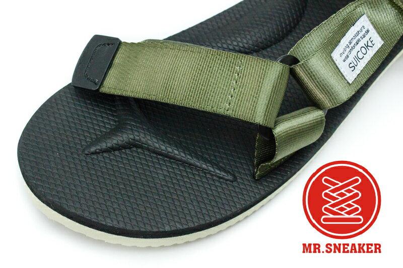 ☆Mr.Sneaker☆ Suicoke DEPA VIBRAM 黃金大底 魔鬼沾 日本 平底 涼鞋 軍綠色 男女段 3