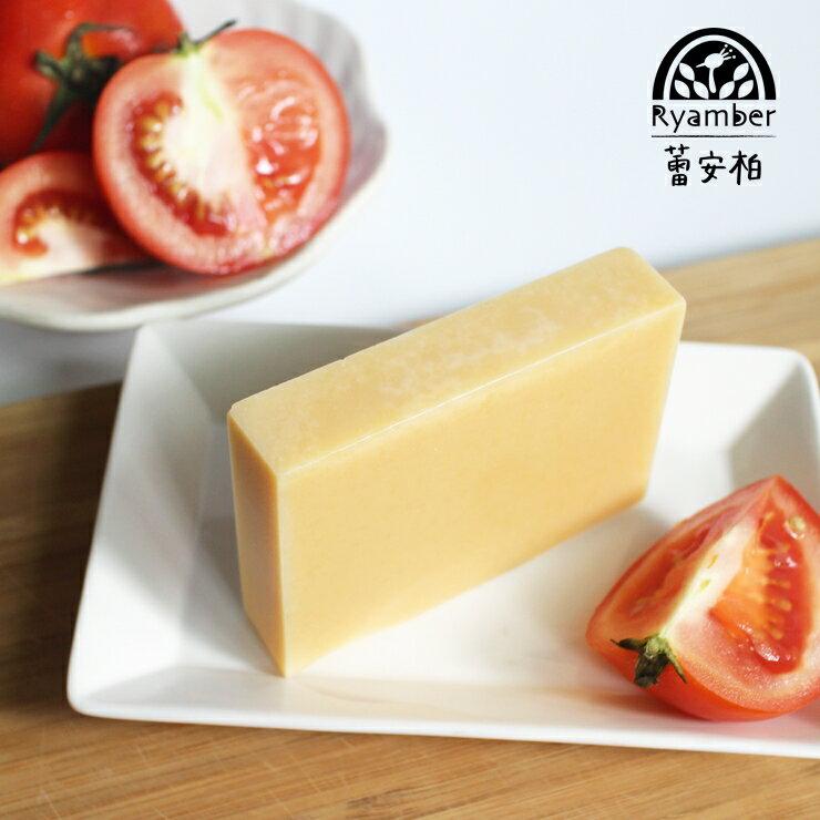 【蕾安柏手工皂】番茄可可皂。鮮採番茄汁│潤膚鎖水│天然茄紅素│香甜可可脂│天然手工皂