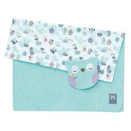 【淘氣寶寶】奇哥 PUP 豆趣毯+安撫巾禮盒 粉綠【獨特顆粒設計與柔和的色彩搭配,刺激寶寶五感發育】
