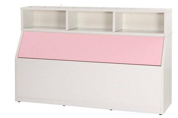 石川家居:【石川家居】846-06(5尺粉紅白色)床頭箱(CT-214)#訂製預購款式#環保塑鋼P無毒防霉易清潔