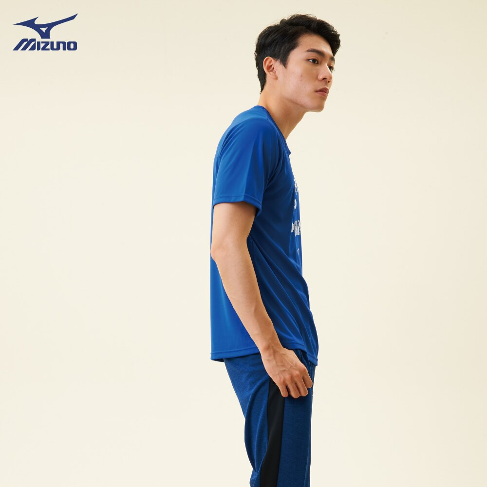 32TA800522(深藍)熱遮蔽布料 男短袖T恤【美津濃MIZUNO】 1