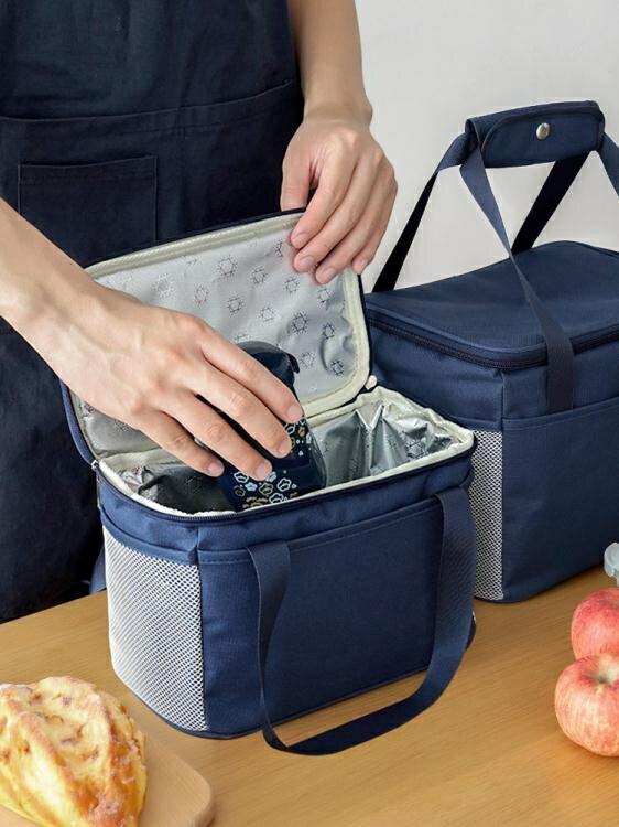 飯盒袋子保溫袋大號手提鋁箔上班帶飯手提包加厚防水大容量便當袋 快速出貨 雙12購物節