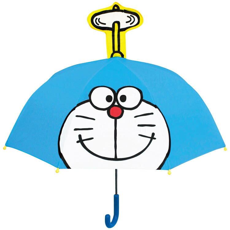 哆啦A夢 小叮噹 竹蜻蜓 造型直傘 雨具 帶耳直傘 造型傘 安全雨傘 卡通傘 日本進口正版 063224