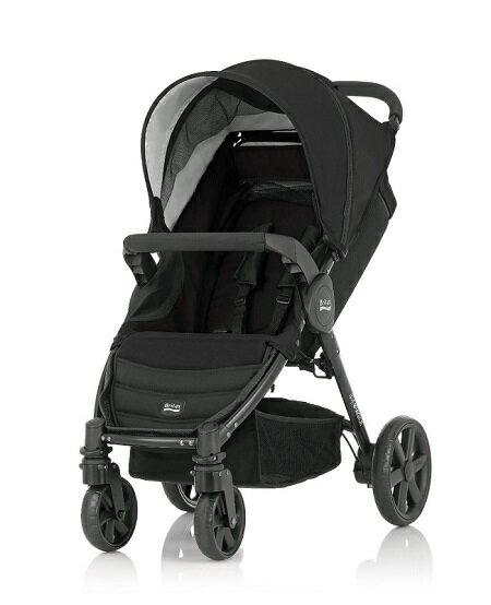 Britax - B-Agile單手收豪華四輪手推車 黑 (附前扶手) 加購Britax - Baby-Safe提籃享特價優惠! - 限時優惠好康折扣