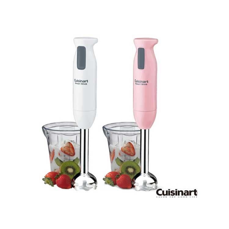 現貨【美國 美膳雅Cuisinart】專業智慧型手持式攪拌器-粉紅色/白色(CSB-76TW)