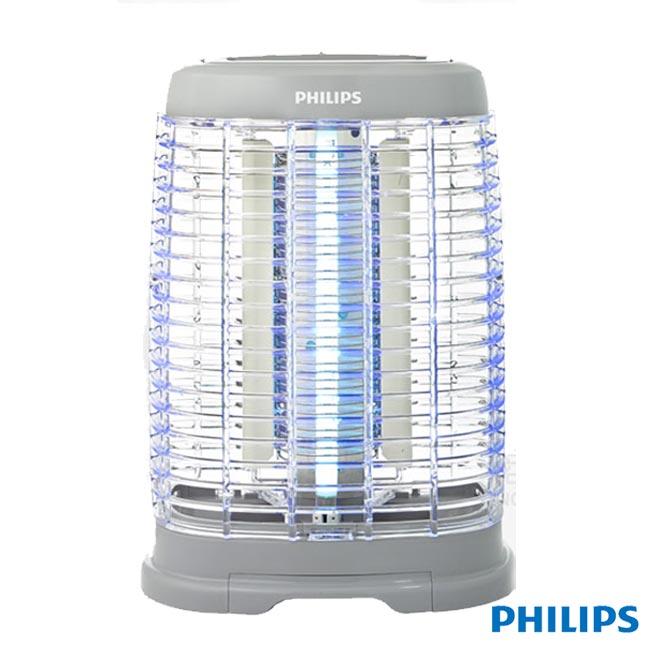 送不鏽鋼環保吸管組【飛利浦 PHILIPS】15W光觸媒除菌系列安心捕蚊燈 電擊式 (E350)