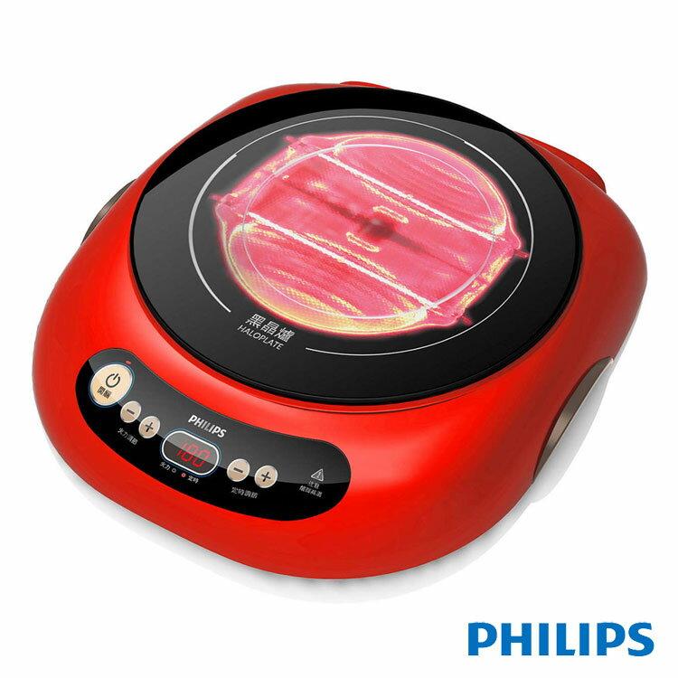 【飛利浦 PHILIPS】Viva Collection 不挑鍋黑晶爐-紅色 (HD4989)
