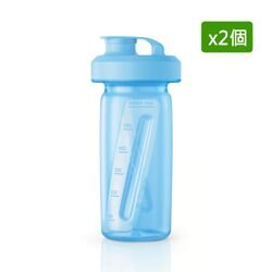 【飛利浦 PHILIPS】【2入組】活氧果汁機HR2872隨行杯-天空藍(HR2991)