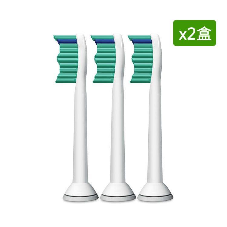 【飛利浦 PHILIPS】美國製Sonicare ProResult 標準型音波震動牙刷刷頭三支裝x2盒(HX6013)