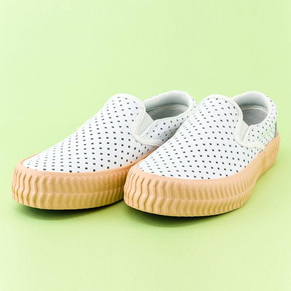 Vladi真皮休閒鞋,洞洞鞋,餅乾鞋.台灣製造 (雪白) 贈廣富號製托特包