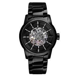 RELAX TIME鏤空機械腕錶-黑X黑 (RT-38J-6) 45mm