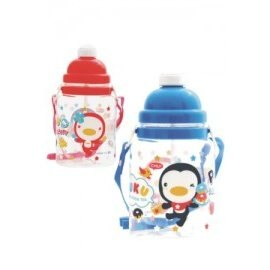 PUKU藍色企鵝 - 彈跳水壺 800cc (水藍/粉紅)