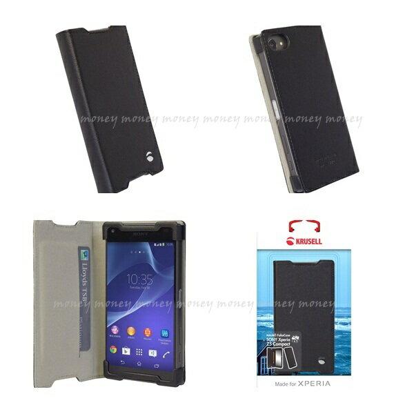 (贈32G記憶卡)Krusell 側掀皮套/SONY Xperia Z5 Compact/手機皮套/側翻皮套【馬尼通訊】