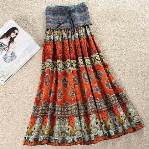 波西米亞亞麻洋裝 / 長裙 (可兩穿)【27103】藍色巴黎 《 5色》現貨+預購 3