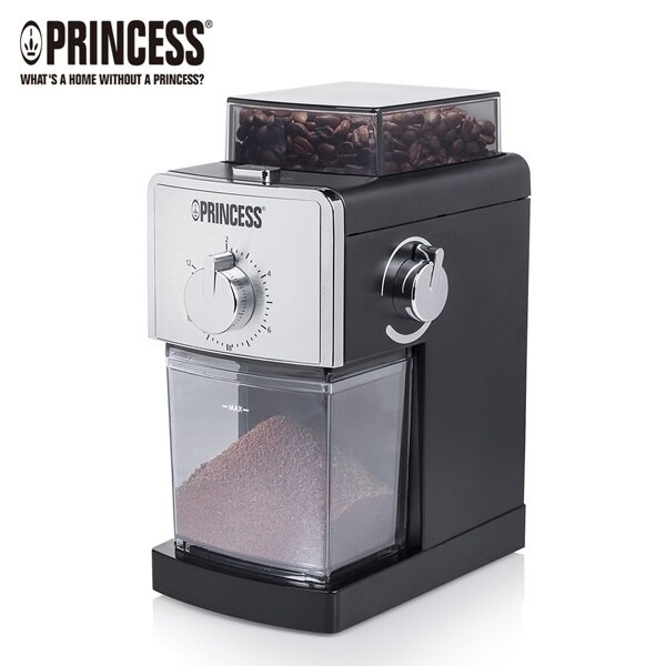 【贈清潔刷&17段研磨粗細設定】荷蘭公主 Princess專業咖啡磨豆機 242197