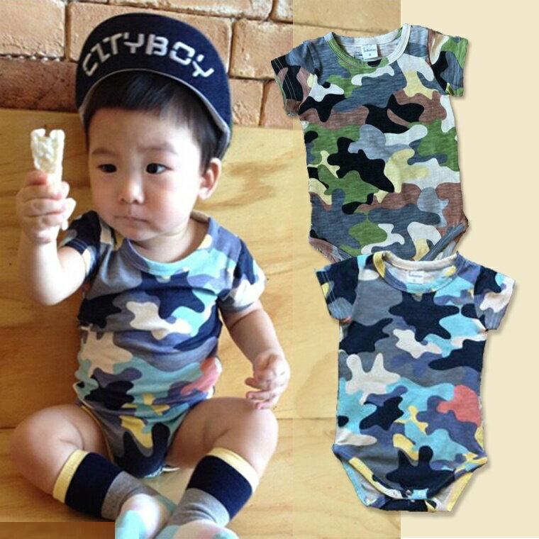 『DoudouMiki』童裝。迷彩短袖包屁衣(CSA0004)