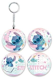 Stitch星際寶貝(2)立體球型拼圖鑰匙圈24片-D070