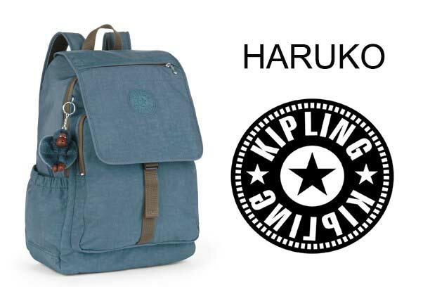 OUTLET代購【KIPLING】雙側口袋大容量旅行後背包  灰藍 0