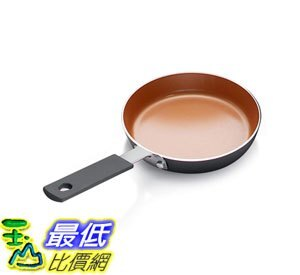 [8美國直購] 陶瓷鍋鈦合金不沾鍋 Gotham Steel Mini Egg Pan with Nonstick Titanium & Ceramic Coating 5.5吋 Copper B07..