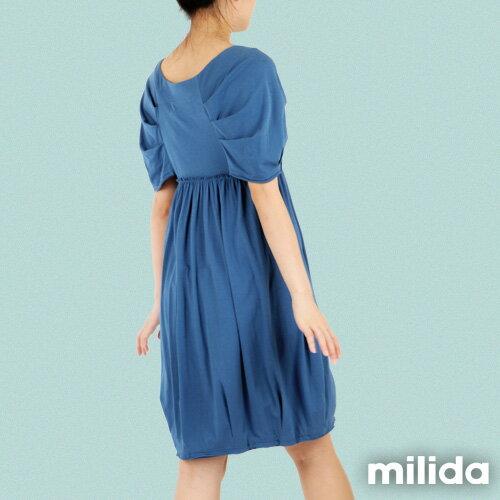 【Milida,全店七折免運】-春夏商品-甜美款-公主袖洋裝 2
