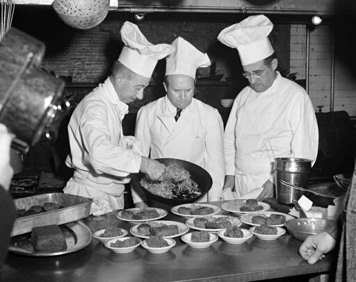 Senate Restaurant 1942 Nchefs At The United States Senate Restaurant Prepare A Lunch Of Dehydrated Foods For The Senators Washington DC Photograph By George Danor December 1942 Poster Print by (18 x 24) d1a7ceba900bd1ed30635620bfb2f392