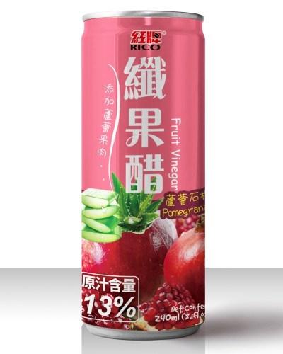 紅牌纖果醋~蘆薈石榴240ml~12罐~合迷雅好物商城~
