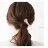 日本CREAM DOT  /  ヘアクリップ ヘアアクセサリー ベロアボタン ビジュー パール メタル 大人カジュアル シンプル 可愛い ベージュ グレー ピンク ボルドー ネイビー  /  k00338  /  日本必買 日本樂天直送(1098) 5