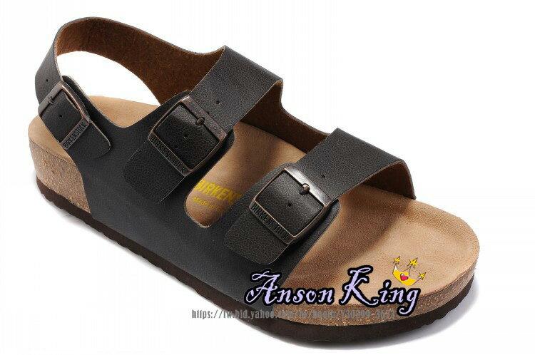 [Anson King]Outlet正品代購  birkenstock Milano系列 男女款 懶人涼拖鞋 黑色裂紋 2