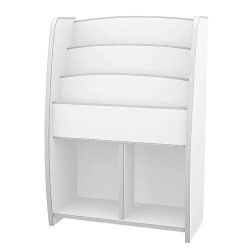 TZUMii:日本直輸書櫃收納櫃TZUMii小木偶四層二格收納櫃-白