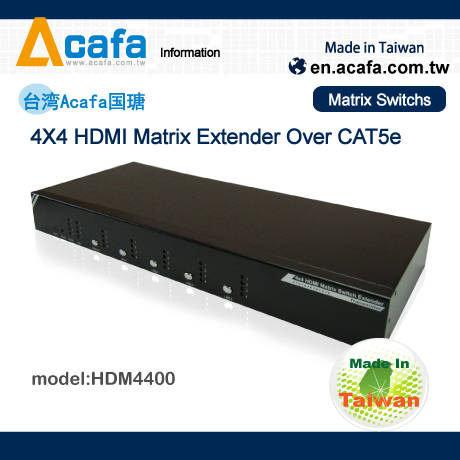 ~新風尚潮流~PANIO 4進4出 HDMI 矩陣切換延長器 遠程遙控 介面輸出 HDM4