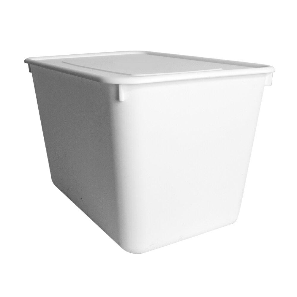 HOUSE【005158-01】純白牛奶附蓋收納盒-圓角4號-大高桶(6入) 台灣製造