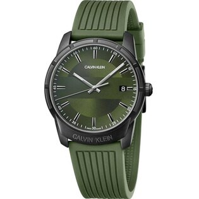 Calvinklein卡文克萊時尚伸展系列(K8R114WL)光影簡約腕錶綠42mm